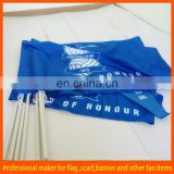 2015 hot selling good quality polyester hand flags