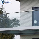 modern design indoor decorative balcony U channel glass railing