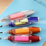 Mini led ball pen with Note Paper,note paper pen ,led pens