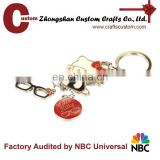 Cute cat and glasses ornament keyring