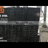 Black square steel pipe, 100*100 ms square tube price, China manufacture astm a500 steel square pipe