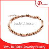 Cheap accessory stainless steel beads wholesale bulk jewelry bracelet