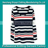 Fashion Style Woman Yarn Dyed Apparel T-shirt Manufacturer