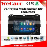 Wecaro WC-TP7027 android 5.1.1 car entertainment system for toyota prado 120 2009-2009 radio multimedia system WIFI 3G Playstore