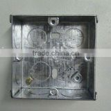 Metal junction box,73*73*35 --- 1 gang (cable junction box,G.I.box)