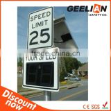 Speed radar digital dictator signage with Solar panel                                                                         Quality Choice