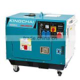 5KW single phase portable diesel generator super silent with trolley hot sale