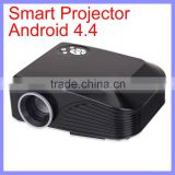 800 x 480 1000:1 Contrast Ratio Android 4.4 High Light LED Smart Mini Projector