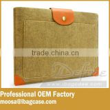 Camel Felt Laptop Bag with PU Strap For Amazon Brand Seller