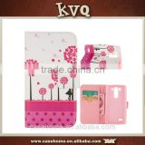 Best selling customized UV pattern printing pu wallet case for LG G3 Mini