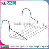 Folding Steel Wire Clothes Airer Balcony Towel Rack