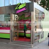 Customized size and style prefabricated restaurant, mobile container restaurant ,food containers restaurant