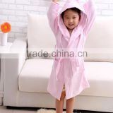 kids cartoon bath towel with hood and pink and brown bath towels