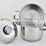 Stainless Steel Stock Pot with Steamer Induction Cookware (XM-2055)