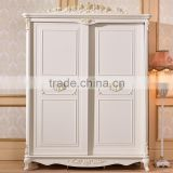 Luxury French Style Hand Carved Wooden MDF Panel Bedroom Sliding Door Cupboard Design                                                                         Quality Choice