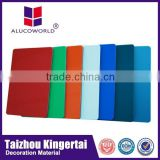 Alucoworld aluminum copper clad laminate 1220*2440mm standard size aluminum plastic composite panel