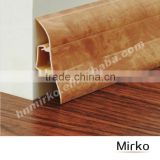Wood grain pvc skirting board