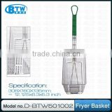 Hot Sale Wire Basket Fryer with Vinyl Handle, Commercial Kitchen Accessories