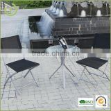 New arrival folding metal bistro table chair set/vintage patio bistro set with multiple color