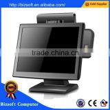 "Bizsoft 15"" LCD touch screen pos terminal with nfc reader and VFD customer display for POSTOUCH BX15 pos manufacturer"