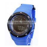 Black bezel color plastic wrapped sports digital watch