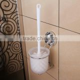 Household cleaning item toilet brush holder with suction cup