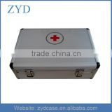 Medical Aluminum Empty First Aid Kit Box, ZYD-MC007
