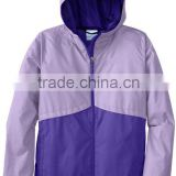 Active design sports hooded rain jacket women