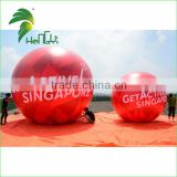 Customized Giant Air Balls / Red Round Helium Balloons / Inflatable Balloon With High Quality Degital Print
