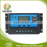 Manufacture 12V/24V 10A 20A 30A Big LCD& USB solar panel charge regulator controller with LCD display PWM mode