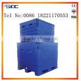 Insulated Bulk Bin for chill fish storage cooler totes ice fish bin PE&PU plastic ice box