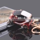 Red car jeep shaped laser printing metal lover keychain