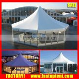 Best Decagon Hexagon Pagoda Luxury permanent wedding raj tent with glass door for Wedding tent rental                                                                         Quality Choice