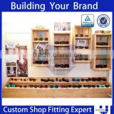 Retail glasses shop design wooden cabinet rack for sunglasses display                                                                         Quality Choice