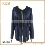 Fashion Suede Fabric Scarves With Long Fringes Lady Suede Shawl Scarf