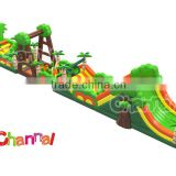 China kids and adults inflatable obstacle games