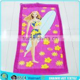 100% cotton Advertisement Beauty printed beach towel for promotion/ beauty surf beach towel