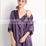 fashionable and cheaper 100% Silk Charmeuse Pajama Sets Ladies' Beautiful Silk Loungewear