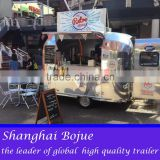 hot sales best quality movable food trailer horse trailer with ramp door humburger food trailer