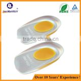 Lady factory Massage Foot Care Silicon PU Heel Cushions,Gel Shoes Pad Spur Insole Foot Pads