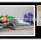 Silver Decorative bowl crocodile plate for home decoration