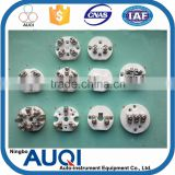 White ceramic plate, simplex or duplex thermocouple ceramic plate, wire connected RTD ceramic plate