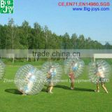 Colorful giant bubble ball human inflatable body zorb ball