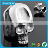Hot Sale Stainless Steel Skull Clasp For Leather Bracelet
