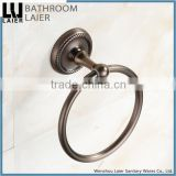 Customized Bathroom Designs Zinc Alloy Antique Copper Finishing Bathroom Accessories Wall Mounted Towel Ring