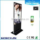Control remoto indoor floor standing lg screen 55 inch interactive multi touch table/family tree photo frame