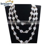 60inches design coin and potato new fashion high quality jewel long pearl necklace