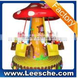 2015 LSJQ-023_Mushroom_swivel_chair carousel for sale ride on kids car remote control arcade game machine