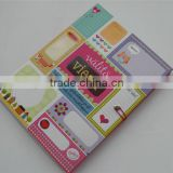 3D emboss spot-uv coating paper cover notebook