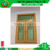 Bright Yellow Wooden Color Aluminum Window Hot Selling Double Glass Window and Doors Smart Window
